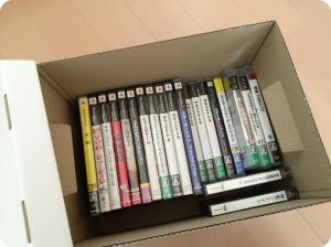 Plenty Boxにゲームソフトを収納した様子